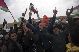 Palestínski demonštranti.