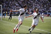Zlatan Ibrahimovič famóznym spôsobom pomohol svojmu tímu k víťazstvu.