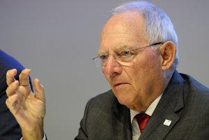 Nemecký minister financií Wolfgang Schäuble