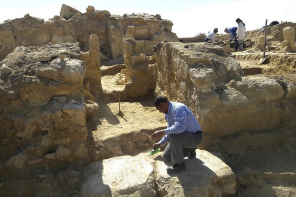 Archeológovia pracujú na mieste objavu ruín chrámu z grécko-rímskeho obdobia.