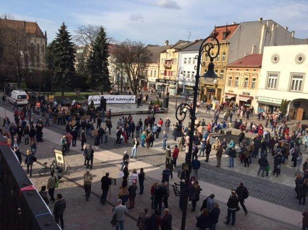 Pred začiatkom protestu v centre Košíc.
