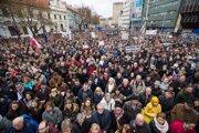 Protest v Bratislave.