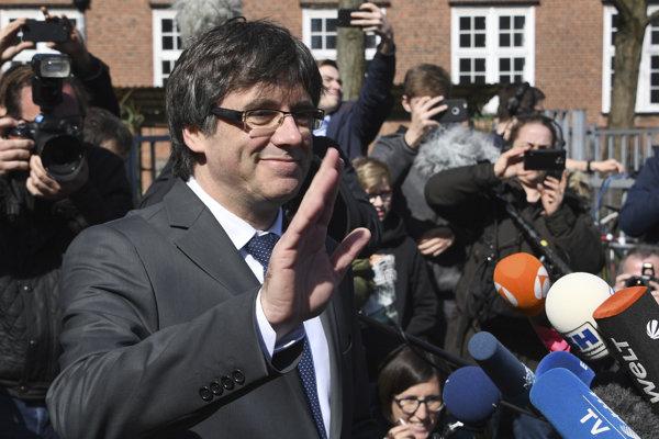 Carles Puigdemont po prepustení z väzenia.