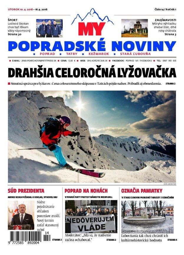Titulka MY Popradských novín