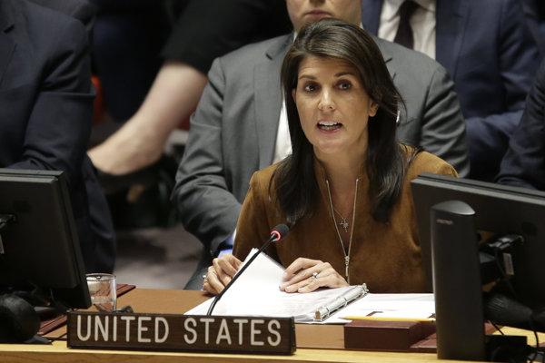 Veľvyslankyňa USA pri OSN Nikki Haleyová.