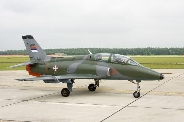 Lietadlo Galeb G-4 juhoslovanskej výroby.