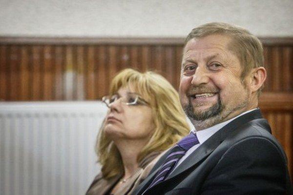 Štefan Harabin počas neúspešnej voľby šéfa Najvyššieho súdu s Janou Bajánkovou.