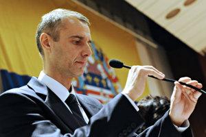 21. december 2010. Nastupujúci primátor Richard Raši na ustanovujúcom zasadnutí Mestského zastupiteľstva v Košiciach.