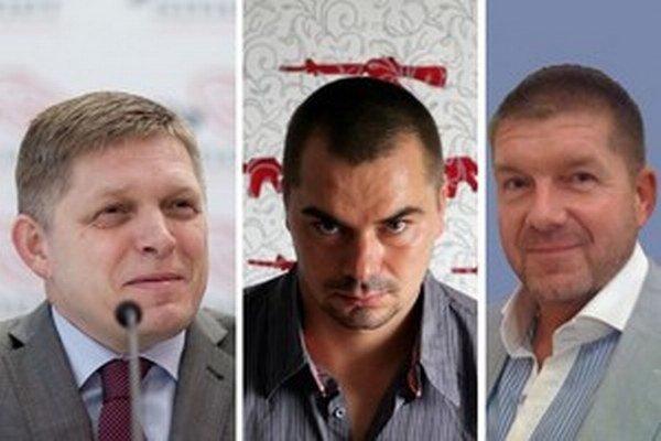 Robert Fico (vľavo), Marek Dalík (v strede) a Miroslav Výboh (vpravo).