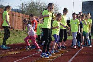 Tréning mladých atlétov z Kysuckého Nového Mesta.