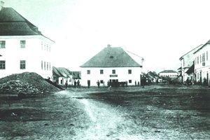 Námestie Na Kaluži v roku 1882.