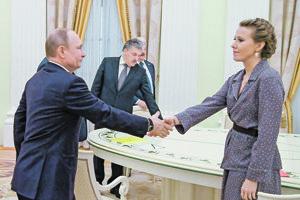 Vladimir Putin a Xenia Sobčaková.