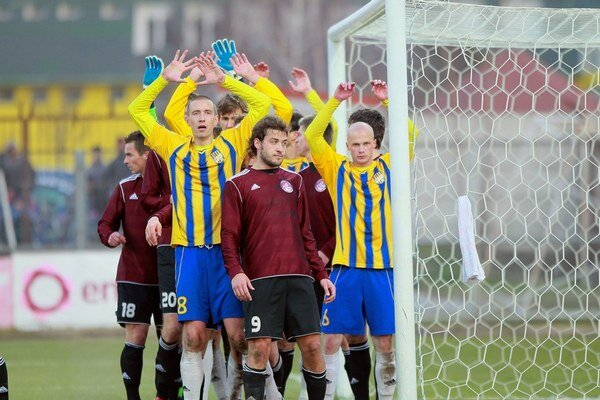 Futbalisti Dunajskej Stredy.