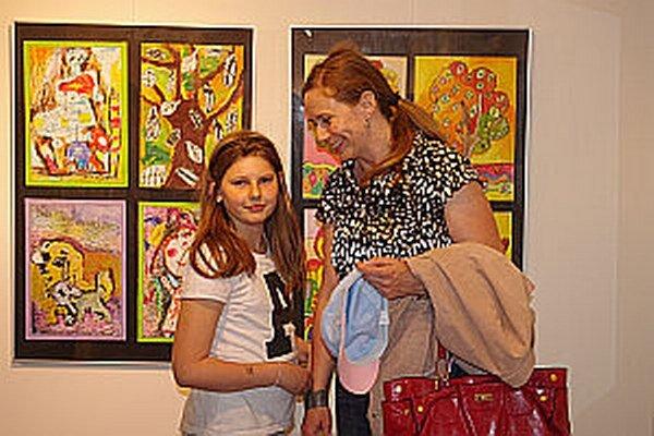 Malí umelci dostali možnosť prezentovať svoje práce. Boli radi.
