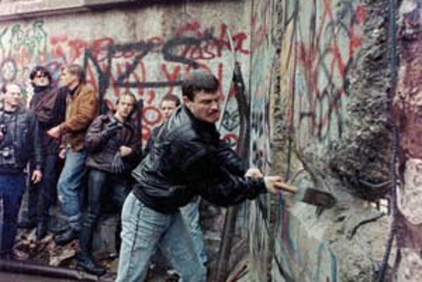 Berlínsky múr v roku 1989.