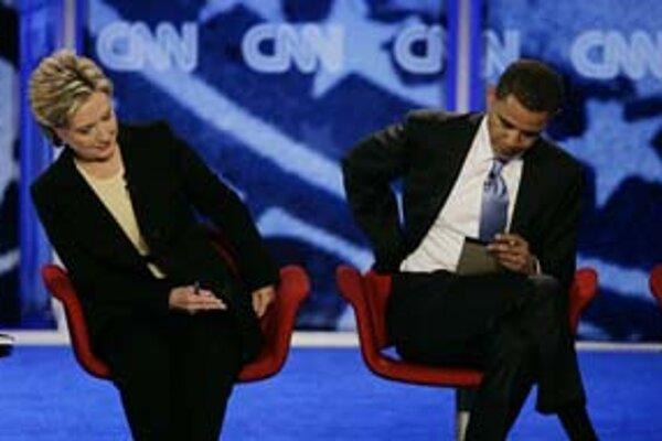 Hillary Clinton a Barack Obama.