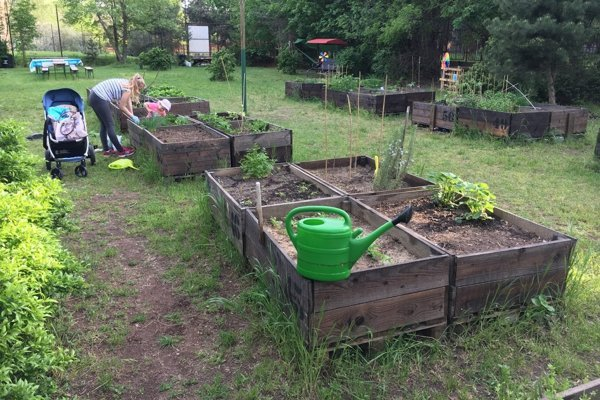 Komunitná záhrada Ostredky v Ružinove.