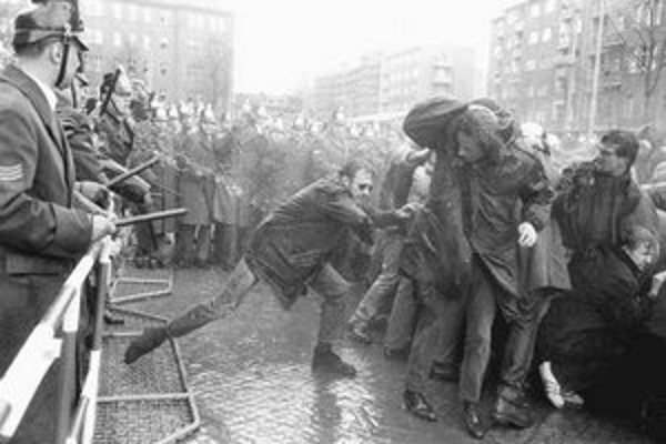 Študentská demonštrácia v Západnom Berlíne v roku 1968.