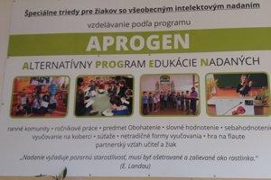 V triedach pre nadané deti sa učia podľa programu APROGEN – Alternatívny program edukácie nadaných.