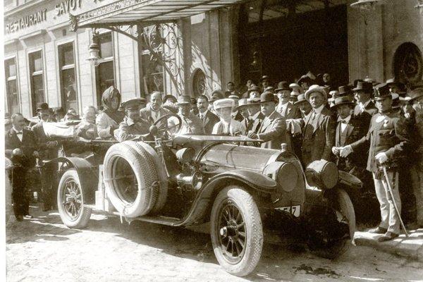 Thomas Alva Edison s rodinou v Prešporku