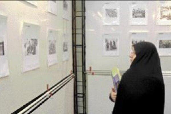 Na výstave o holokauste v Teheráne.