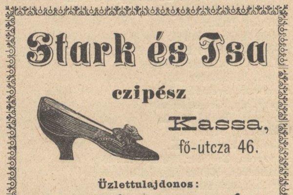 Dobová reklama košického obuvníctva.