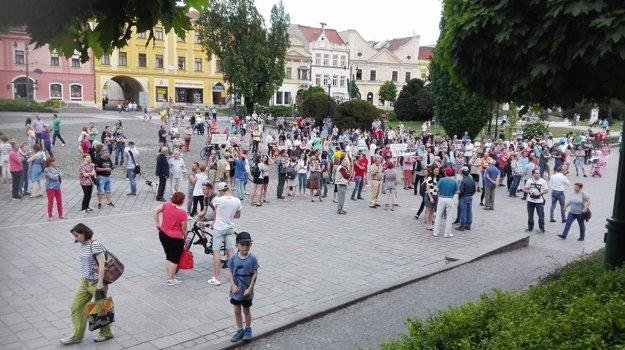 Prešov pred začiatkom protestu.