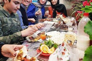 Tradičná iránska kebab reštaurácia.