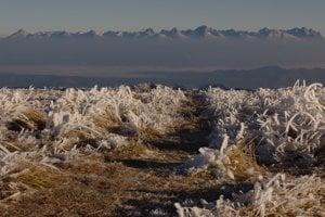 Celkový pohľad na jesenné Vysoké Tatry.