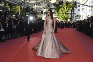 Modelka Bella Hadid poses počas premiéry filmu 'Ash Is The Purest White.