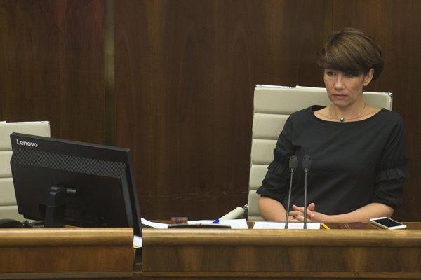Podpredsedníčka NR SR Lucia Ďuriš Nicholsonová.