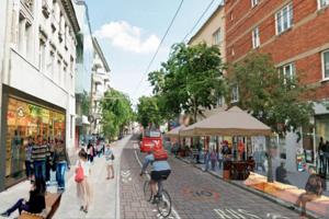 Návrh premeny Mickiewiczovej ulice.