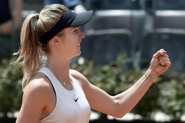 Ukrajinská tenistka Jelina Svitolinová sa stala prvou finalistkou dvojhry na turnaji WTA v Ríme.