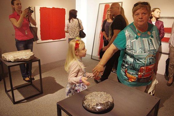 Z otvorenie výstavy Petry Lomnickej a Michala Janigu.