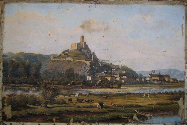 Krajina z Trenčína (1892)- olej na plátne