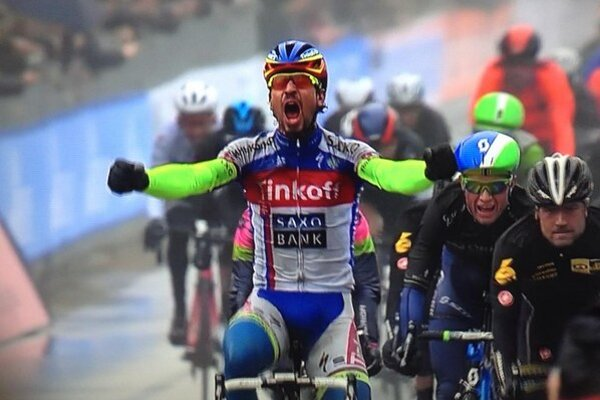 Peter Sagan a jeho víťazná radosť.
