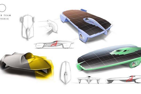 Nákres solárneho vozidla.