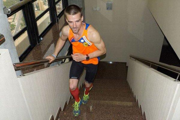 Tomáš Čelko počas behu.