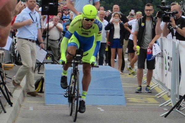 Peter Sagan krátko po vyštartovaní na trať.