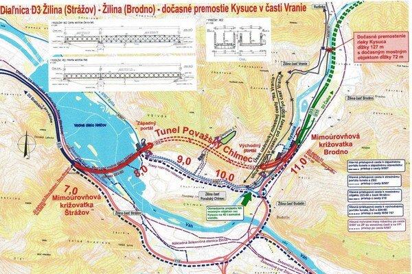 Ponad Kysucu vybudujú dočasný most.