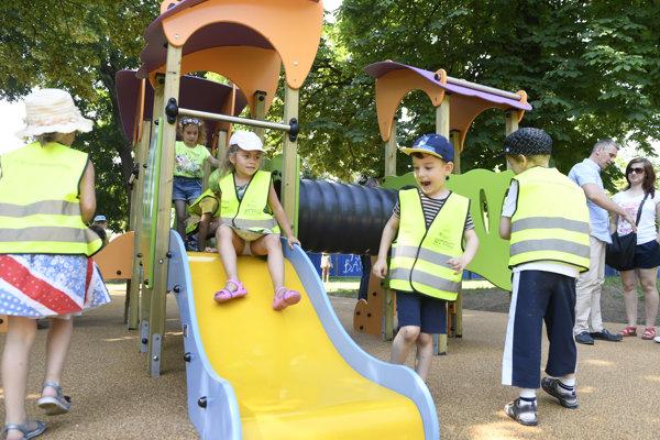 Deti mali z ihriska veľkú radosť.