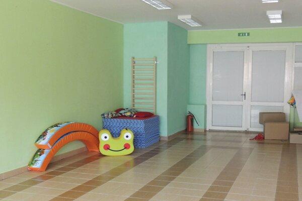 Nová telocvičňa pre škôlkarov.