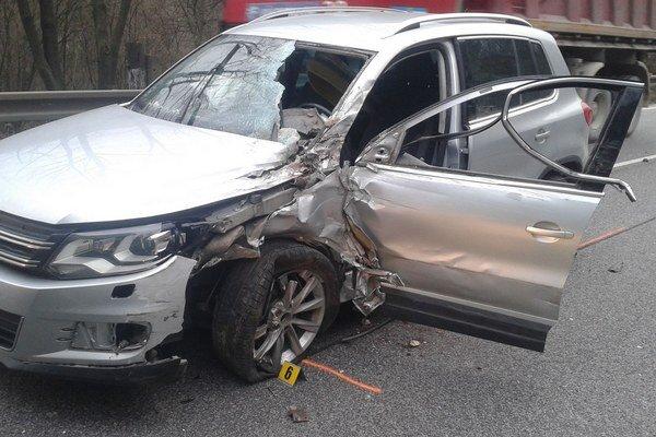 Jedna z dopravných nehôd.