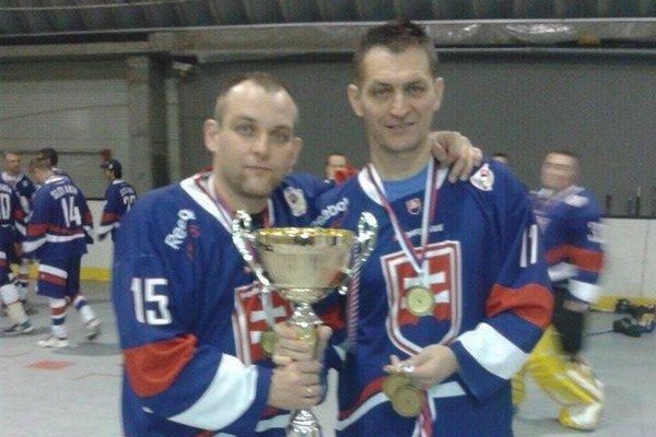 Róbert Kašša (vľavo) spolu s Pavlom Surňákom.