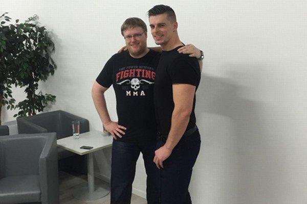 Michal Štrba s trénerom Tomášom Haferom.