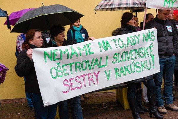 Štrajk sestier v Žiline.