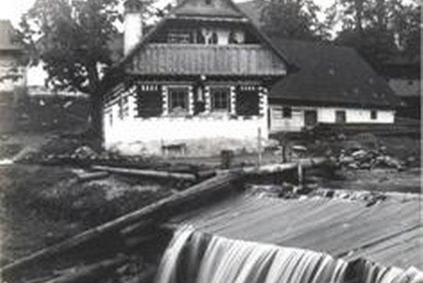 Čičmany na začiatku 20. storočia.