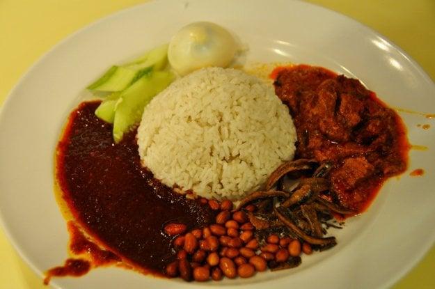 Nasi Lemak je národné jedlo Malajzie