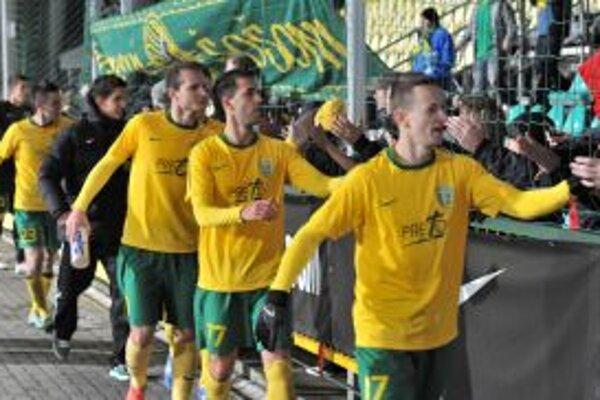Takto sa radovali futbalisti MŠK v utorok. Naopak, po dnešnom zápase zostali sklamaní.