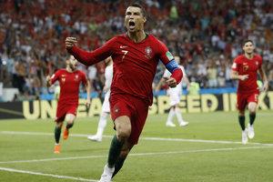 Cristiano Ronaldo sa raduje zo svojho gólu.